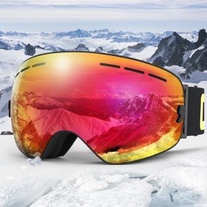 COPOZZ UV400 Anti Fog Ski Goggle Double Layers For Men Women Snowboard Goggles GOG-201 Pro