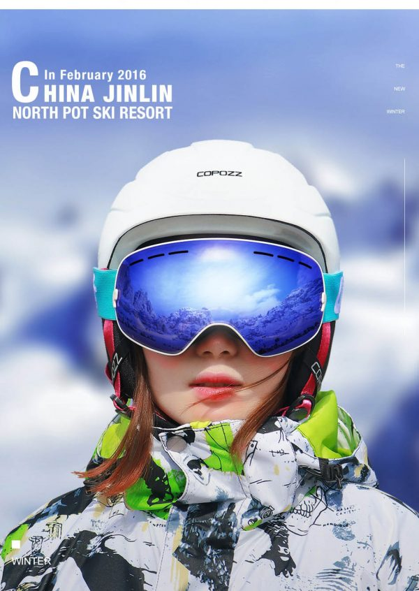 COPOZZ UV400 Anti Fog Ski Goggle Double Layers For Men Women Snowboard GogglesGOG-201 Pro