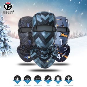 New Winter Polar Fleece Warm Beanies Balaclava Full Face Cap Cold Windproof Snowboard Helmet Liner Head Shield Thermal Hat Men Women Fashion