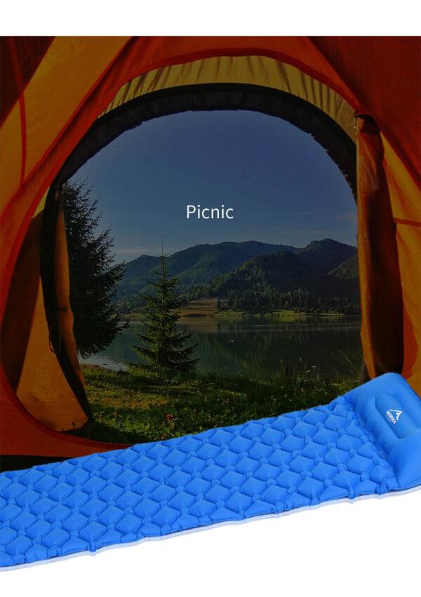 Widesea 4 SeasonsInflatable Outdoor Sleeping Padfor Hiking, Traveling with airbag