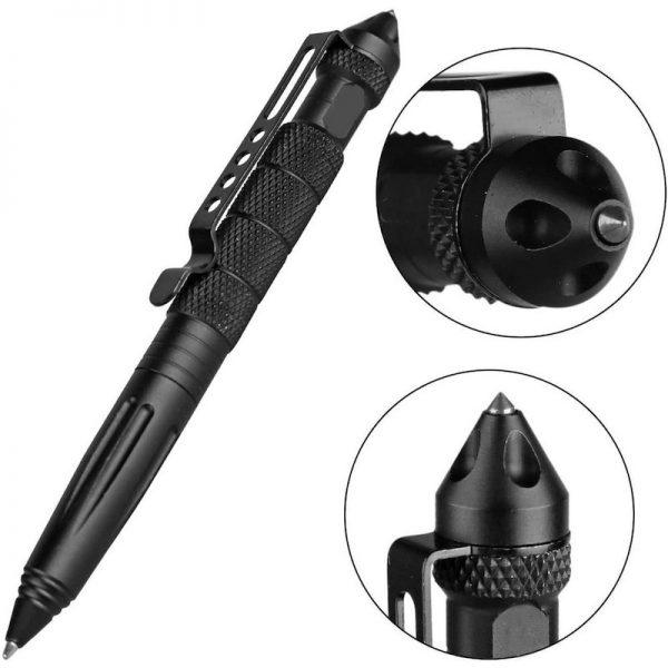 Tactical Pen for Self Defense - Multitool Pen for Everyday Carry (EDC) Survival Toolfor Women & Men, Emergency Glass Breaker Pen - Tungsten Steel, Writing Tool