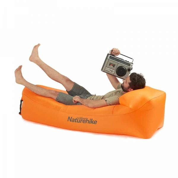 Naturehike Outdoor Camping Inflatable Lounger Air Sofa CouchFoldable, Portable, Waterproof, Anti-Air Leaking Compression Sacks- Ideal Couch for Backyard, Lakeside, Beach, Traveling, Camping, Picnics & Music Festivals