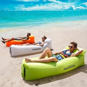 Naturehike Outdoor Camping Inflatable Lounger Air Sofa Couch Foldable, Portable, Waterproof, Anti-Air Leaking Compression Sacks - Ideal Couch for Backyard, Lakeside, Beach, Traveling, Camping, Picnics & Music Festivals