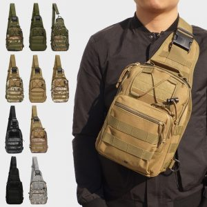 Daypack Sling Backpack Crossbody Chest Pack Sports Climbing Shoulder Bags Tactical  Military Daypack for Trekking Camping Hiking Camping Hunting Fishing Outdoor