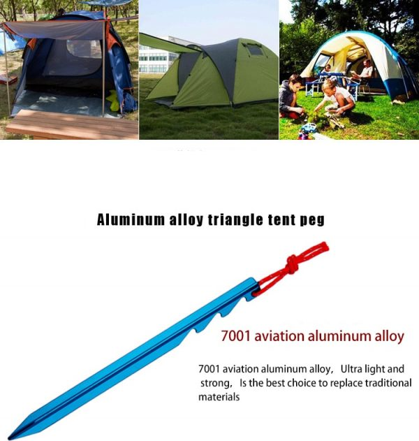 20pcs Ultralight7001 AluminumTent Stakes with Reflective Rope Tent Peg