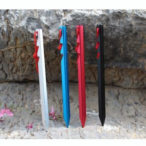 20pcs Ultralight 7001 Aluminum Tent Stakes with Reflective Rope Tent Peg