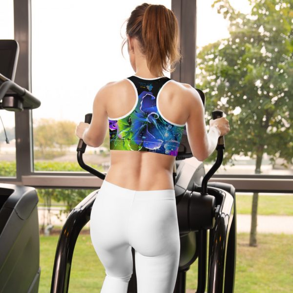 North Pole Star Sports Bra Lightweight and Breathable Fabric 82% Polyester +18% Spandex Active Sport Bra Model NY1001 White