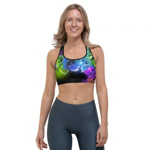 North Pole Star Sports Bra Lightweight and Breathable Fabric 82% Polyester +18% Spandex Active Sport Bra Model NY1001 Black