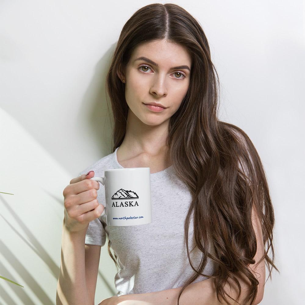 North Pole StarAlaska Mug Camp Mug - 11oz. & 15oz. Ceramic Coffee Cup Oven-Friendly Dishwasher Safe