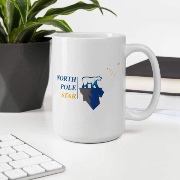 North Pole Star US Flag Mug Camp Mug - 11oz. & 15oz. Ceramic Coffee Cup Dishwasher & Microwave Safe