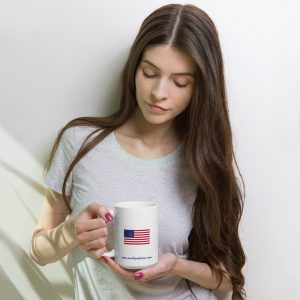 North Pole Star American Flag Mug Camp Mug - 11oz. & 15oz. Ceramic Coffee Cup Dishwasher & Microwave Safe