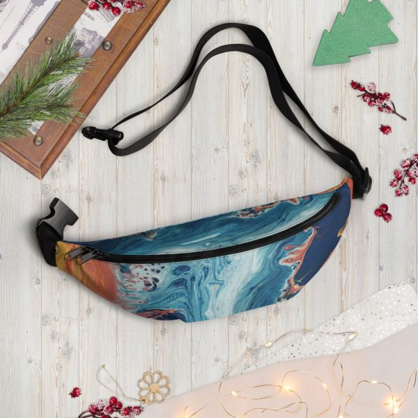 North Pole Star Fanny Pack VB41544 Unisex Fashion Hip Pack, Waterproof Pouch Bag Crossbody for Festival, Hiking and Travel