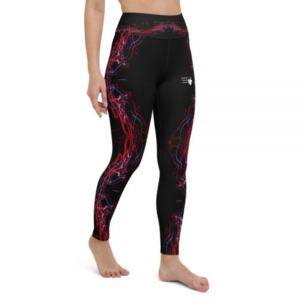 North Pole Star Yoga Leggings with Pockets FB99701 Women's High Waisted Yoga Pants Workout Sports Running Athletic 4 Way Stretch Pants