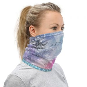 North Pole Star Neck Gaiter PS92262 Face Scarf Fashion Mask Cooling Breathable Bandana Windproof Balaclava UV Protection Half Face Cover Reusable Headband for Men Women