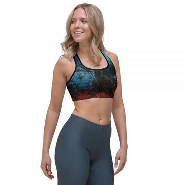 North Pole Star Sports Bra Lightweight and Breathable Fabric 82% Polyester +18% Spandex Active Sport Bra AN99501