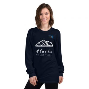 North Pole Star Alaska Shirt - North Pole Star Unisex Long Sleeve Alaska Shirt Cotton T-Shirt for Men & Women Made in USA