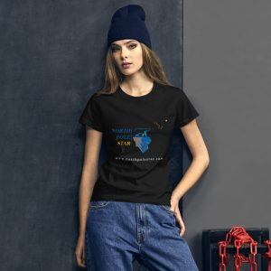 North Pole Star Women's Short Sleeve T-Shirt FB99707 100% Combed Ring Spun Cotton Ladies Tee.