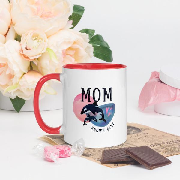 "North Pole Star ""Mom Knows Best"" Mug www.northpolestar.com mothers day gift idea"