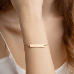 North Pole Star Cancer Survivor Engraved Bracelet -Includes 18 inch Chain - CourageFaith Hope Love Infinity Pendant Jewelry Cancerversary Gift 18K rose gold, 24K gold