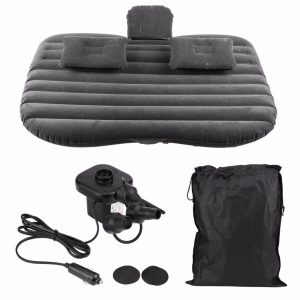 Oversea Car Inflatable Air Mattress Bed with Back Seat, Electric Air Pump and 2 Air Pillows Airbed for Rest Sleep Vacation Travel Camping Inflatable Sofa Cushion Car Accessories New