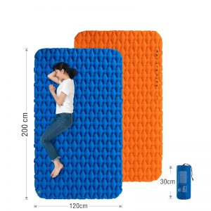 Naturehike Air Mattress Inflatable Portable Camping Mat Double Sleeping Pad with Air Bag Ultralight Folding Bed Travel Sleeping Mat Waterproof Hiking Trekking