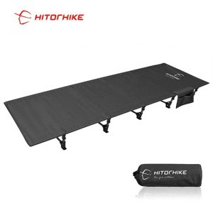 HITORHIKE Camping Cot Compact Folding Heavy Duty Waterproof Cot Bed for Outdoor Backpacking Sleeping Camping Bed, Holds 330 Pounds,Comes with Carry Bag