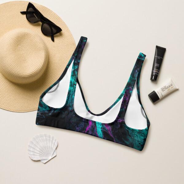 North Pole Star Recycled Padded Bikini Top FB99711, Eco-friendly, Swimwear, Trendy Bathing Suit, Sustainable Women's Swimsuit, Fashion, Marine Biology Bikini Set