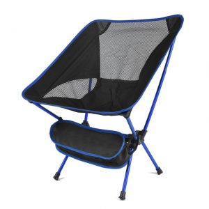Travel Ultralight Folding Chair Superhard High Load Outdoor Camping Chair Supports 300lbs Aircraft Grade Aluminum Portable Beach Hiking Picnic Seat Fishing Chair