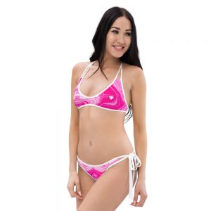 North Pole Star Bikini HI96706, Summer Beach Pink Bikini Set, Swimwear, Trendy Bathing Suit, Fashion, Two-Piece Swimsuits