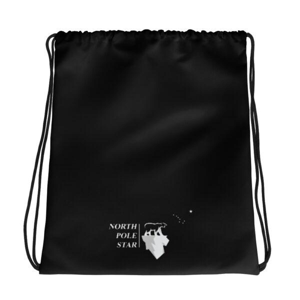 North Pole Star Large Size Drawstring Bag backpack Sports Outdoor Sackpack Yoga Gym Sack for Women Men Children