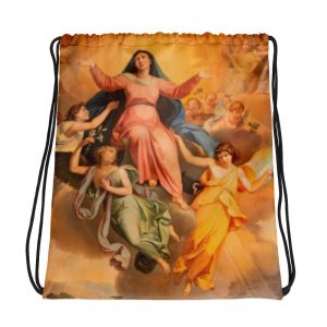 North Pole Star Angels Drawstring Large Size Bag backpackSports Outdoor Fashion Sackpack Yoga Gym Sackfor Women Men Children - Front View