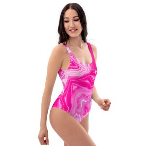 North Pole Star One-Piece Swimsuit PCB32413, Chlorine Resistant, Fashion, Scoop Neck, Bathing Suit, Sporty One Piece Swimsuit