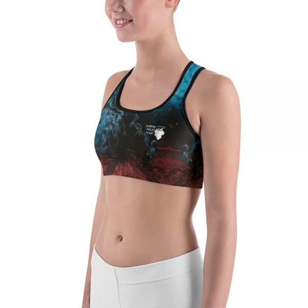North Pole Star Sports Bra Lightweight and Breathable Fabric 82% Polyester +18% Spandex Active Sport Bra AN99502