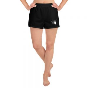 North Pole Star Women's Athletic Short - Black Color Women's Running Short Workout Fitness Mesh Side Pockets Comfy Gym Sports Shorts