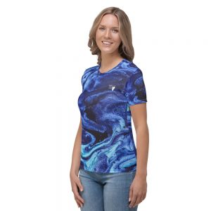 North Pole Star Women's Crew Neck T-Shirt AN99515 Premium Performance Crew Neck T-Shirt 4-Way Stretch Short Sleeve