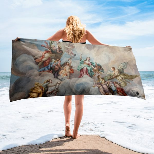 North Pole Star Beach Towel MI33139 Lightweight, Ultra Absorbent, Full Color, Fast Drying, 30 x 60 in. Pool, Beach Towel