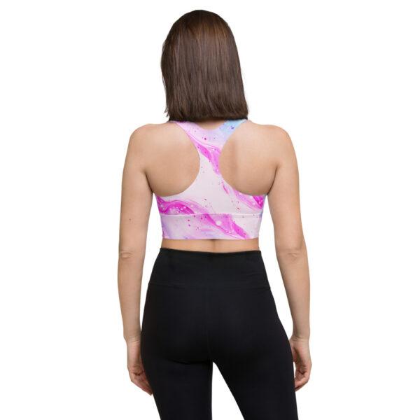 North Pole Star Longline Sports Bra PB33408 for Women Workout Padded Sports Yoga Gym Fitness Running Longline Bra Tank Tops Crop Top