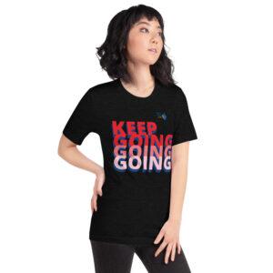 North Pole Star Keep Going Short-Sleeve Unisex T-ShirtPremium Quality Crew Neck Christian Shirt, Power Shirt, Motivational, Inspirational Quote, Men & Women's Shirt