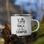 King of the Camper Enamel Mug-2
