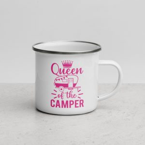 Buy North Pole Star 12 oz Queen of the Camper Enamel Mug Campfire Mug with Handle For Indoor & Outdoors, Breakfast Wanderlust Travel Cup For The Happy Camper!
