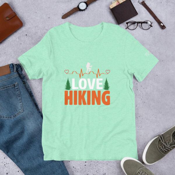 North Pole Star I Love Hiking Short-Sleeve Unisex T-Shirt Premium Quality Crew Neck Tees