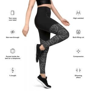 North Pole Star High-waisted Sports Leggings SE98108 Gray, Essential medium to high-intensity workouts, Non-see-through and squat-proof Sports Tights, Fitness Yoga Gym Leggings