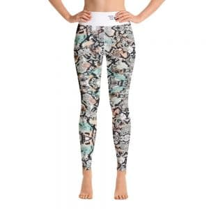 North Pole Star Yoga Leggings with Pockets MO59715 Women's High Waisted Yoga Pants Workout Sports Running Athletic 4 Way Stretch Pants